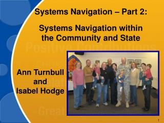 Systems Navigation – Part 2: Systems Navigation within the Community and State