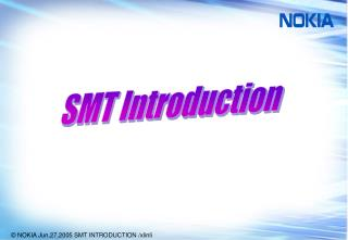 SMT Introduction