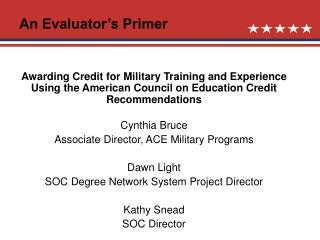 An Evaluator's Primer