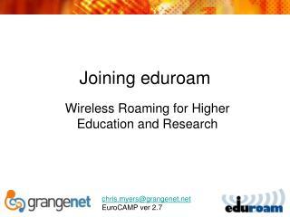 Joining eduroam