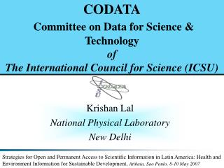 Krishan Lal National Physical Laboratory New Delhi