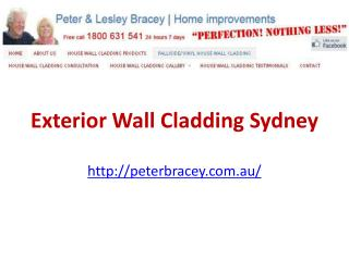 Exterior Wall Cladding Sydney