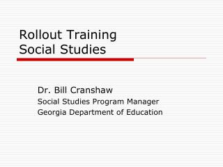 Rollout Training Social Studies