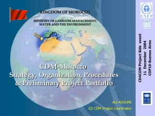 CDM-Morocco Strategy, Organization, Procedures &  Preliminary Project  Portfolio