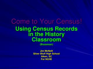 Come to Your Census!