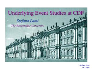 Underlying Event Studies at CDF