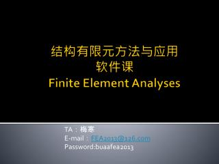 ?????????? ??? Finite Element Analyses