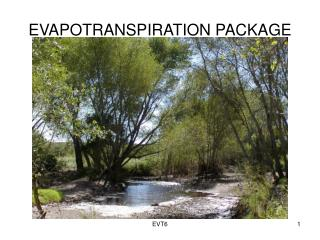 EVAPOTRANSPIRATION PACKAGE
