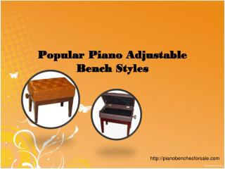 Popular Piano Adjustable Bench Styles