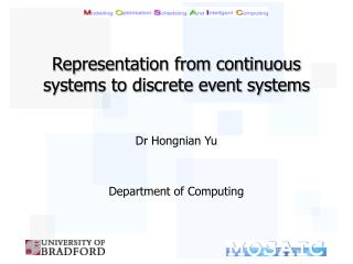 Representation from continuous systems to discrete event systems