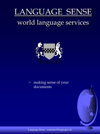 LANGUAGE  SENSE world language services