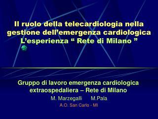 Gruppo di lavoro emergenza cardiologica extraospedaliera – Rete di Milano