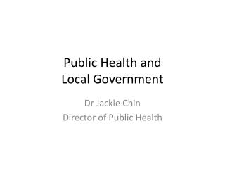 Public Health and Local Government