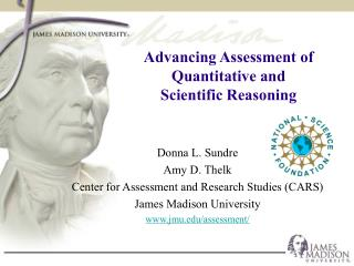 Advancing Assessment of  Quantitative and  Scientific Reasoning