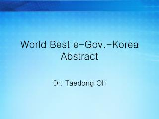 World Best e-Gov.-Korea Abstract