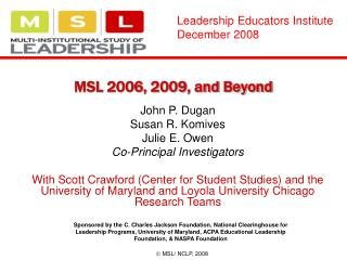 MSL 2006, 2009, and Beyond