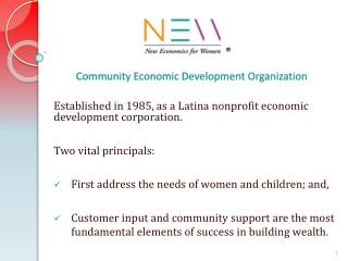 Community Economic Development Organization