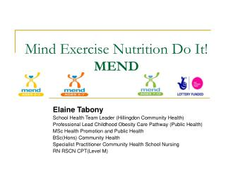 Mind Exercise Nutrition Do It! MEND