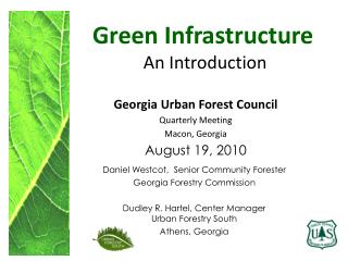 Green Infrastructure  An Introduction