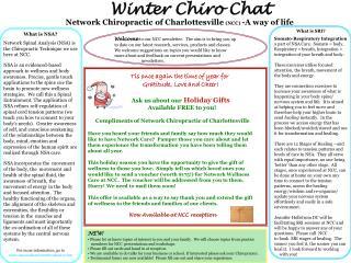 Winter Chiro Chat