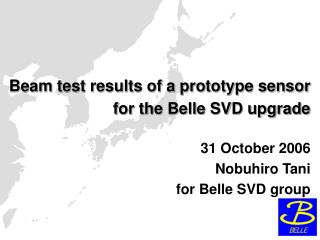 Beam test results of a prototype sensor for the Belle SVD upgrade