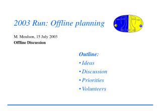 2003 Run: Offline planning