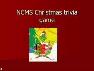 NCMS Christmas trivia game
