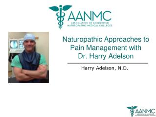 Naturopathic Approaches to Pain Management with  Dr. Harry Adelson