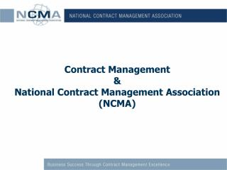 Contract Management & National Contract Management Association (NCMA)