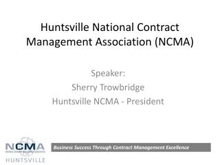 Huntsville National Contract Management Association (NCMA)