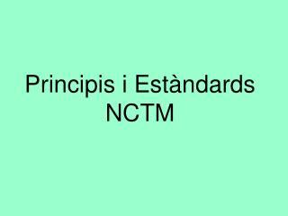Principis i Estàndards NCTM