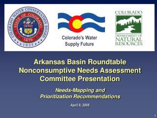 Colorado's Water  Supply Future