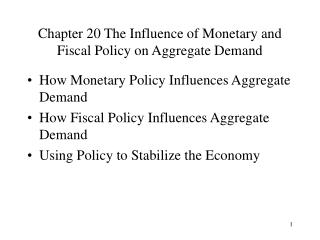 Chapter 20 The Influence of Monetary and Fiscal Policy on Aggregate Demand