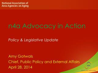 n4a Advocacy  in Action