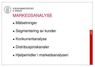 MARKEDSANALYSE