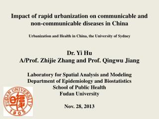 Impact of rapid urbanization on communicable and non-communicable diseases in China