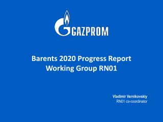 Barents 2020 Progress Report Working Group RN01