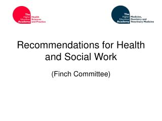 Recommendations for Health and Social Work