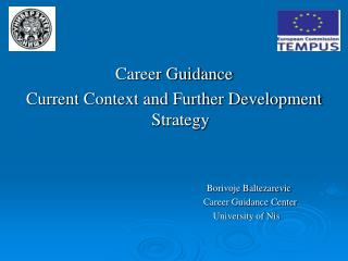 Career Guidance  Current Context and Further Development Strategy