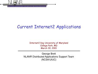 Current Internet2 Applications