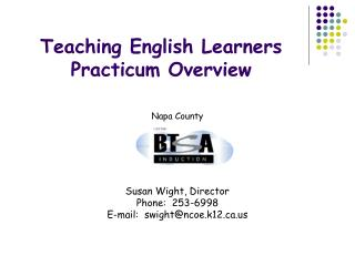 Teaching English Learners Practicum Overview