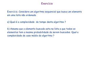 Exerc�cio