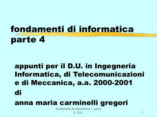 fondamenti di informatica  parte 4