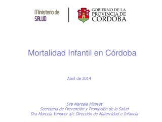 Mortalidad Infantil en Córdoba