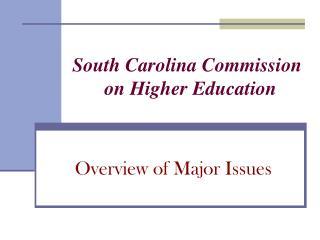 South Carolina Commission                                   on Higher Education