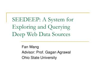 SEEDEEP: A System for Exploring and Querying Deep Web Data Sources