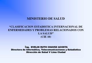 PRINCIPIOS EN QUE SE BASE LA CLASIFICACION INTERNACIONAL DE ENFERMEDADES