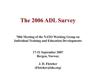 The 2006 ADL Survey