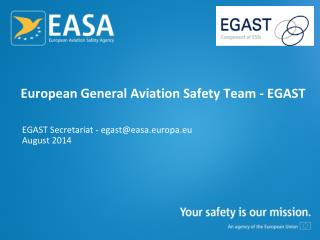 European General Aviation Safety Team - EGAST
