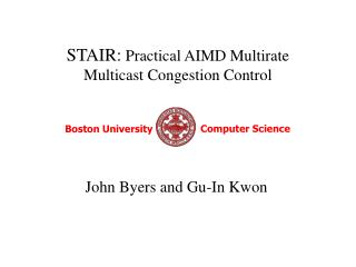 STAIR:  Practical AIMD Multirate  Multicast Congestion Control